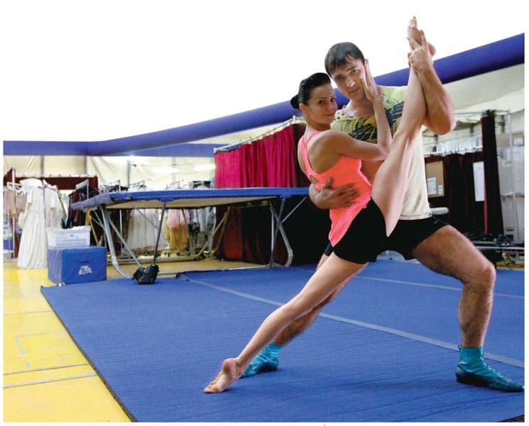 Cirque du Soleil calienta sus entrenamientos previos a Corteo