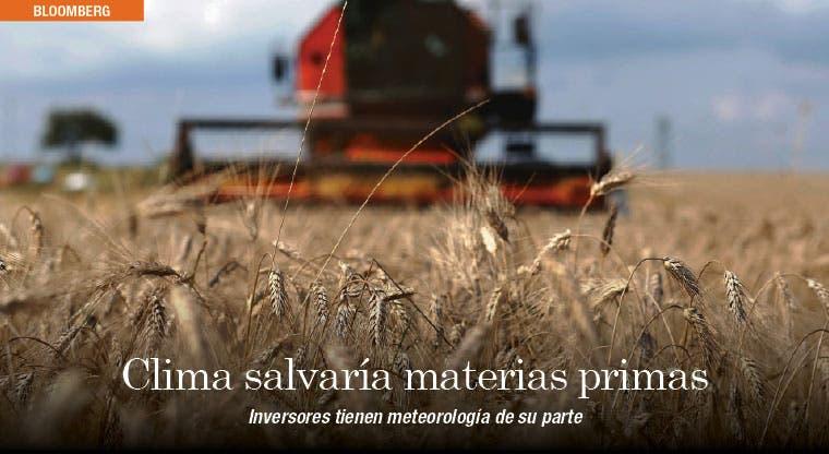 Condiciones climáticas salvarían producción de materias primas