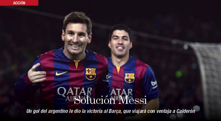 Messi da ventaja al Barça