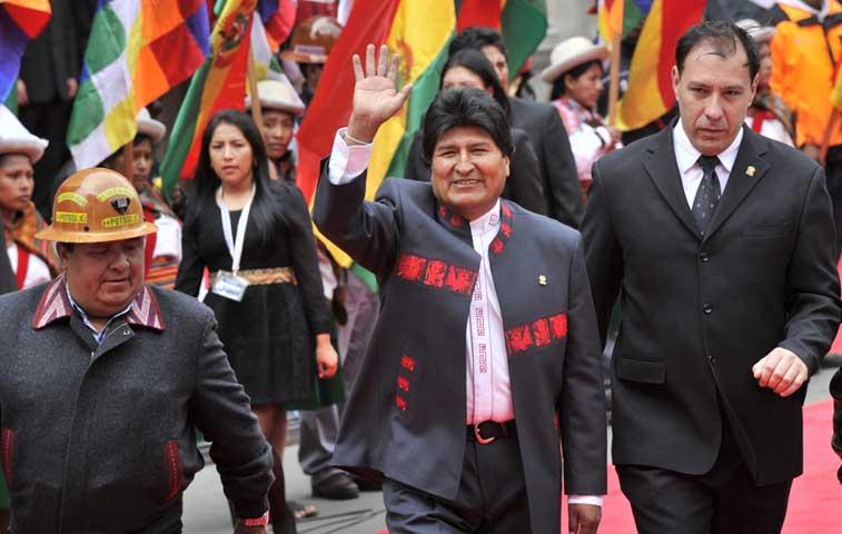 Evo Morales toma tercer mandato como presidente de Bolivia