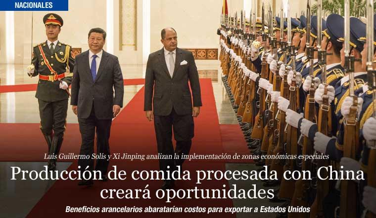 Producción de comida procesada con China creará oportunidades