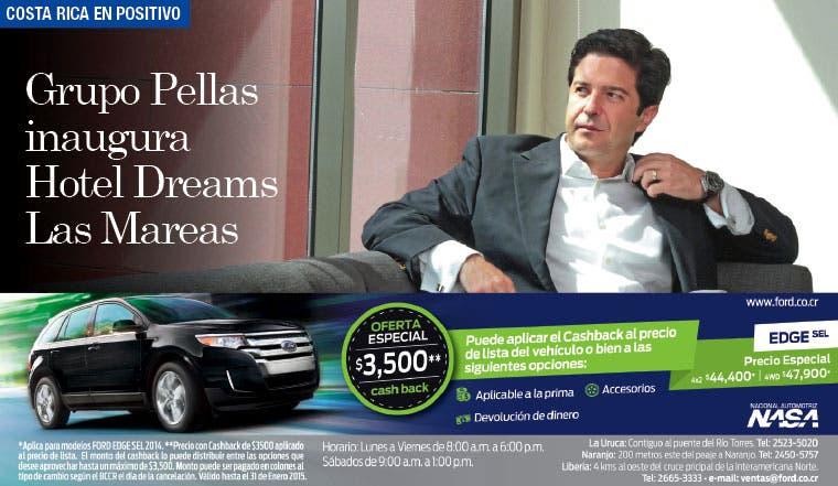 Grupo Pellas inaugura Hotel Dreams Las Mareas