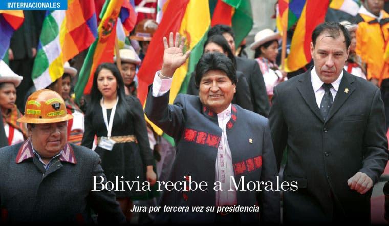 Evo Morales jura por tercera vez su presidencia