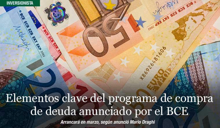 Claves de compra de deuda anunciado por el BCE