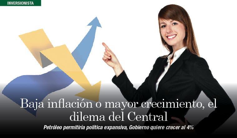 Baja inflación o mayor crecimiento, el dilema del Central