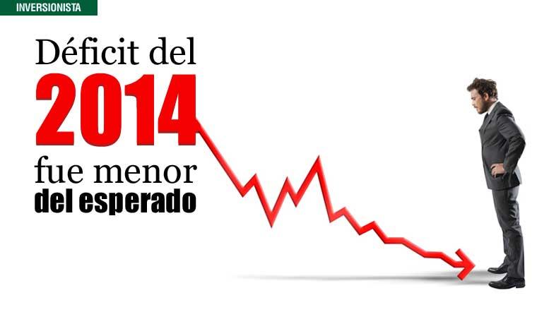 Déficit del 2014 fue menor del esperado