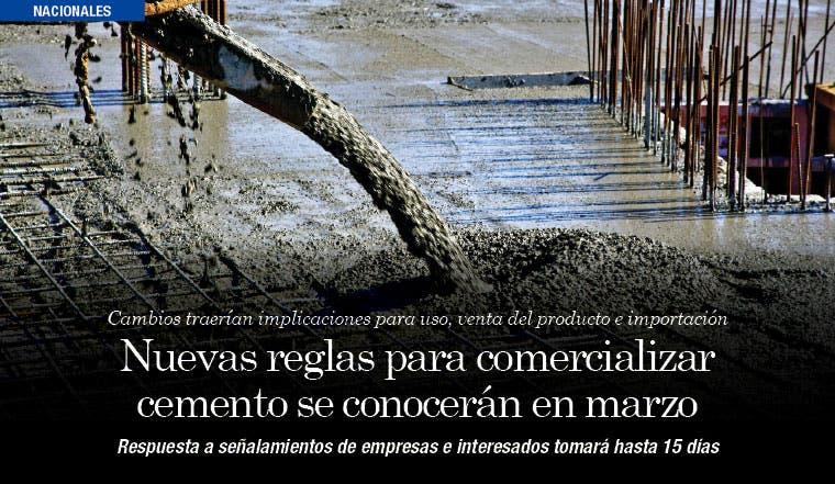 Nuevas reglas para comercializar cemento se conocerán en marzo