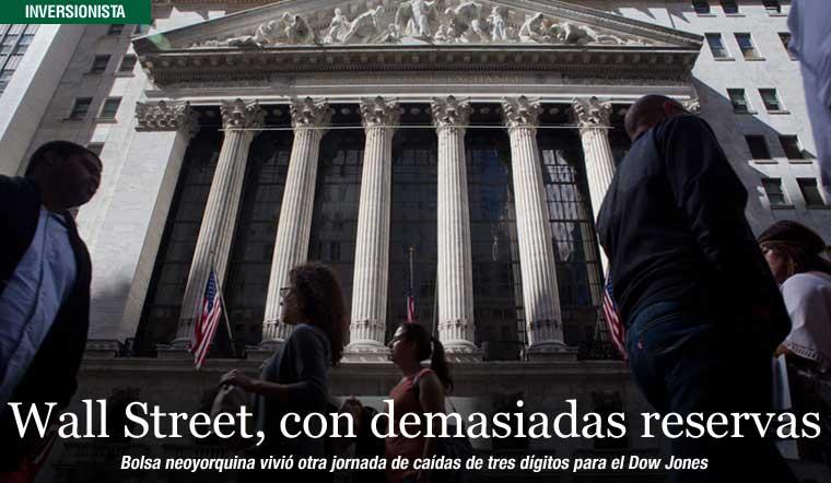 Wall Street, con demasiadas reservas