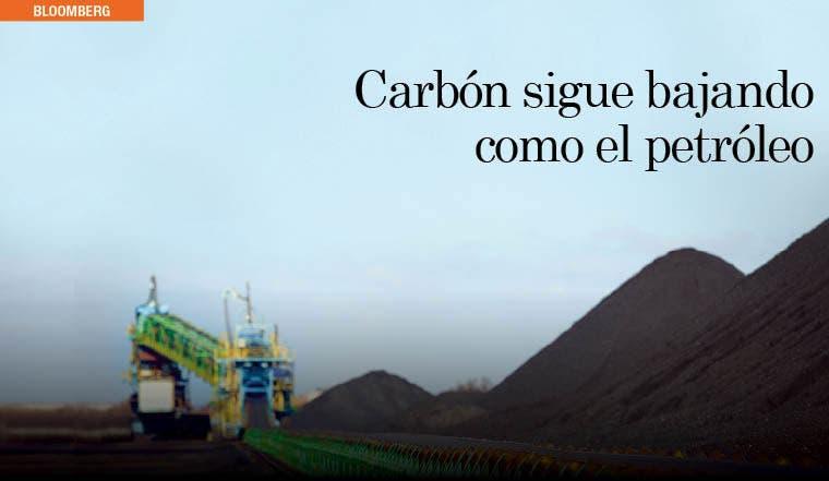 Carbón sigue bajando como el petróleo