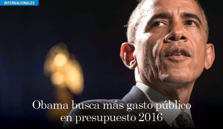 Obama busca más gasto público en presupuesto 2016