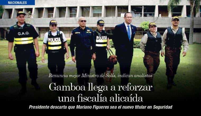 Gamboa llega a reforzar una fiscalía alicaída