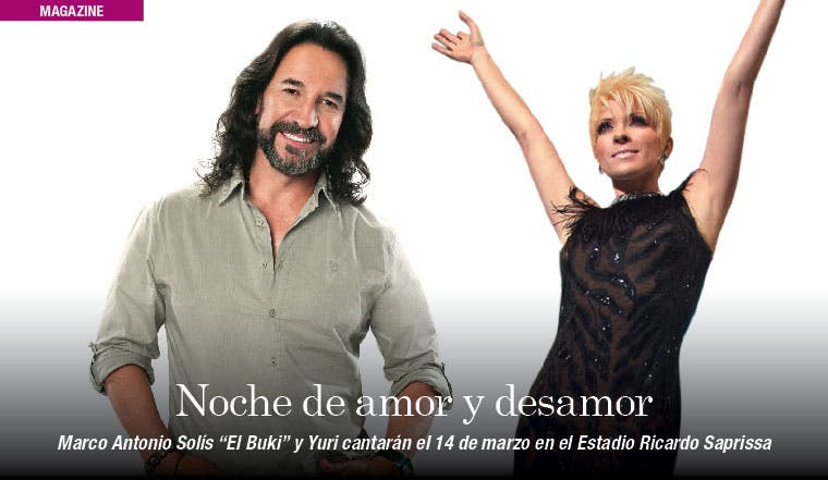 Marco Antonio Solís y Yuri se presentarán en el Saprissa