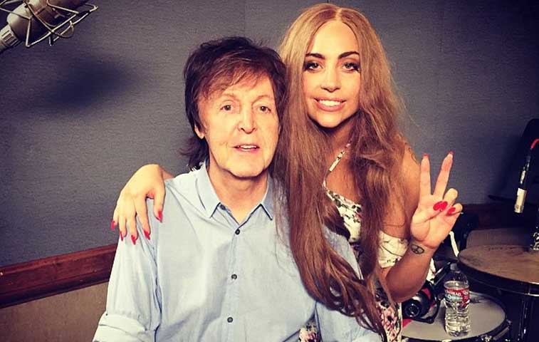 Lady Gaga publica en Instagram su colaboración con Paul McCartney