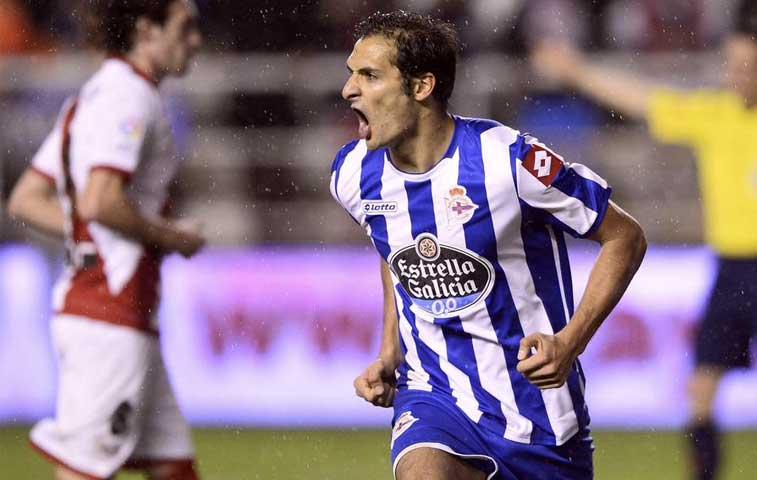 Celso Borges es titular del Deportivo ante el Eibar