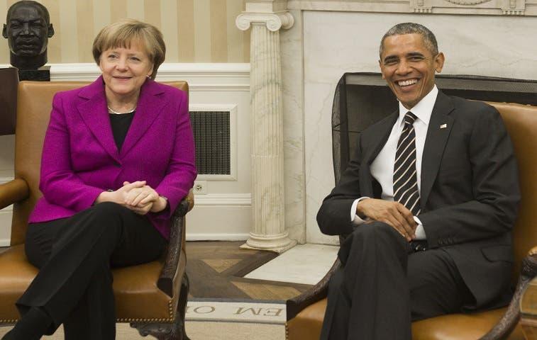 Obama muestra unidad con Merkel sobre Ucrania