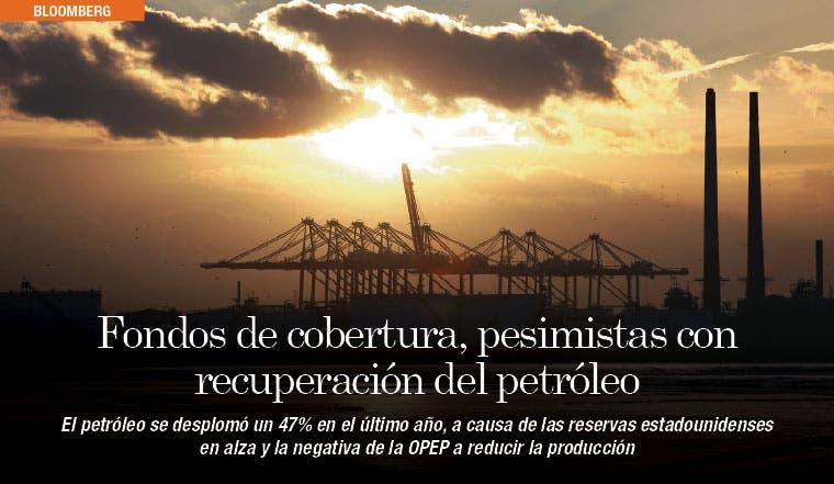 Fondos de cobertura, pesimistas con recuperación del petróleo