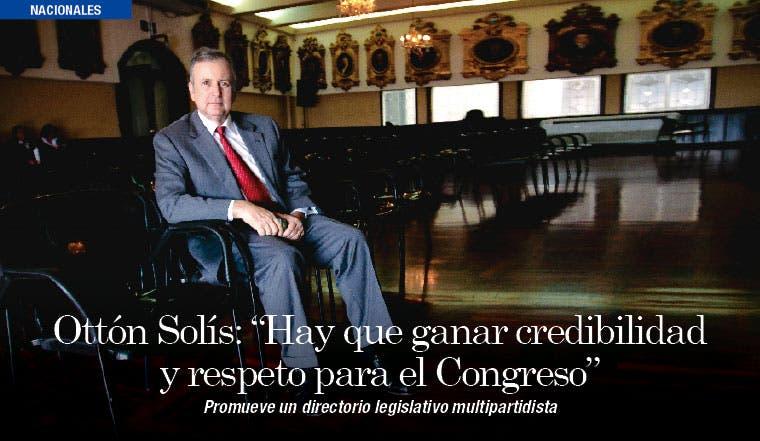"""Ottón Solís: """"Hay que ganar credibilidad y respeto para el Congreso"""""""