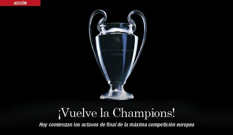 Champions ilumina Europa