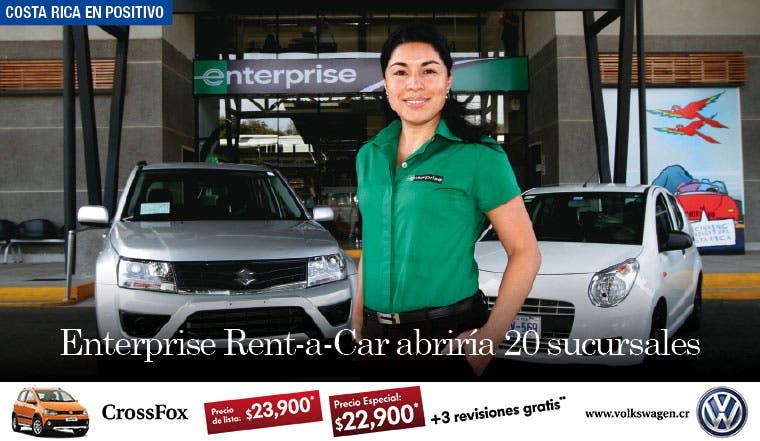 Enterprise Rent-a-Car abriría 20 sucursales