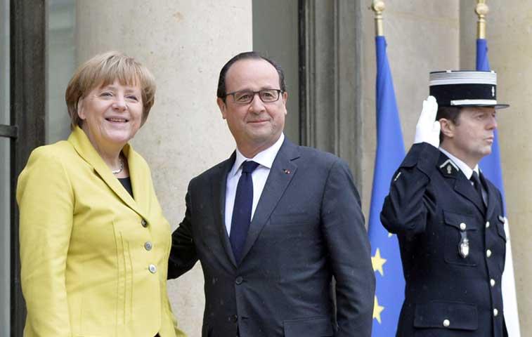 Alemania y Francia trabajarán para que Grecia siga en el Euro