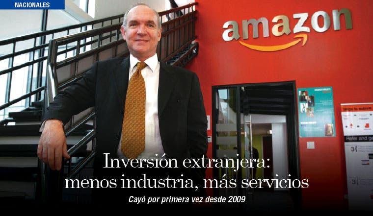 Inversión extranjera: menos industria, más servicios