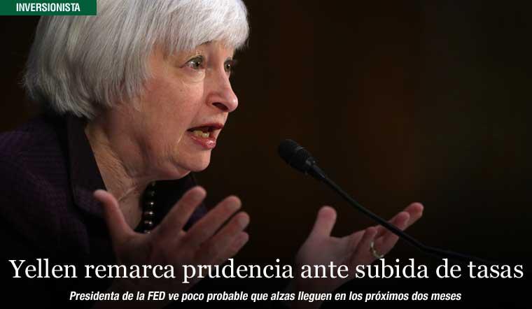 Yellen remarca prudencia ante subida de tasas