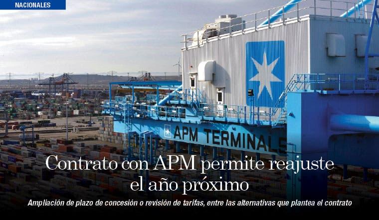 Contrato con APM permite reajuste el año próximo