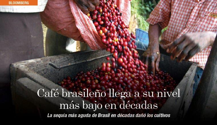 Café brasileño llega a su nivel más bajo en décadas