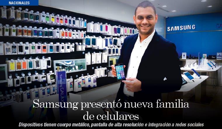 Samsung presentó nueva familia de celulares