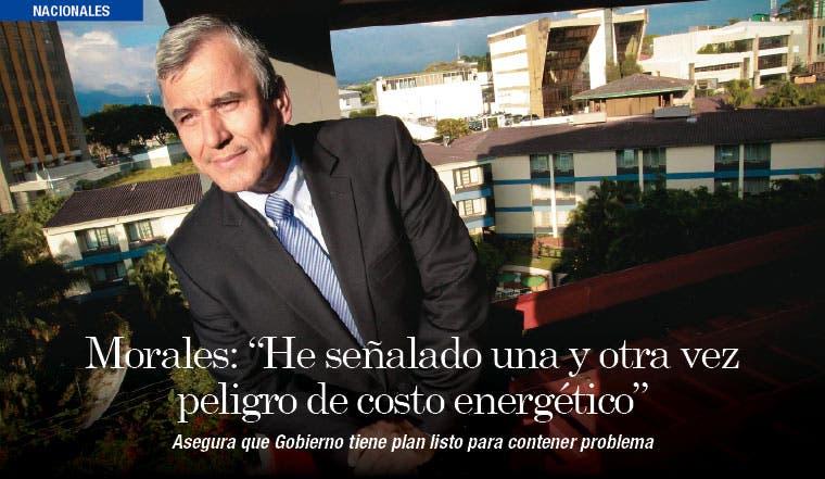 """Morales: """"He señalado una y otra vez el peligro del costo energético"""""""