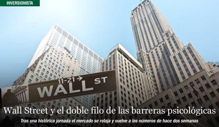 Wall Street y el doble filo de las barreras psicológicas