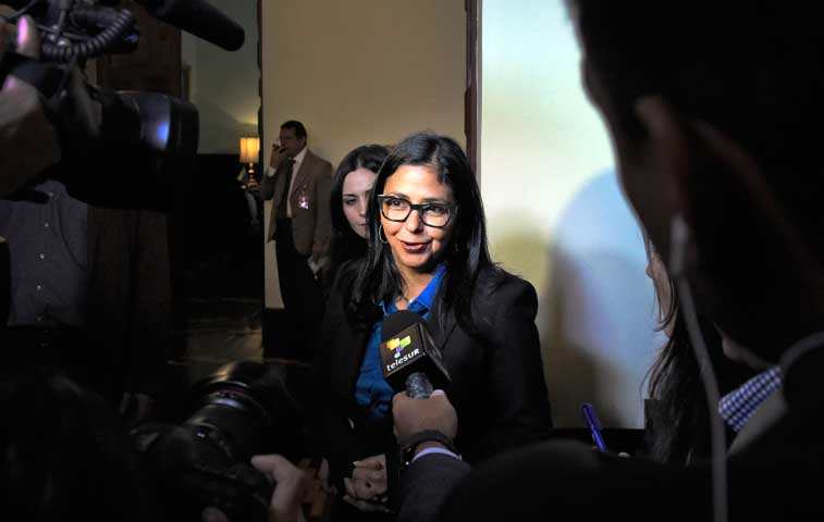"""Canciller venezolana: """"Pronto responderemos a sanciones de Washington"""""""