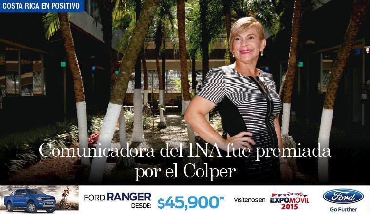 Comunicadora del INA fue premiada por el Colper