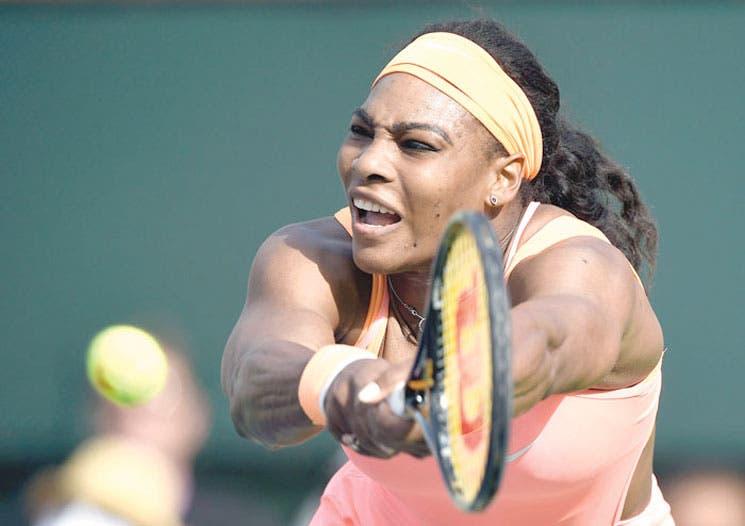 Serena pega en Indian Wells