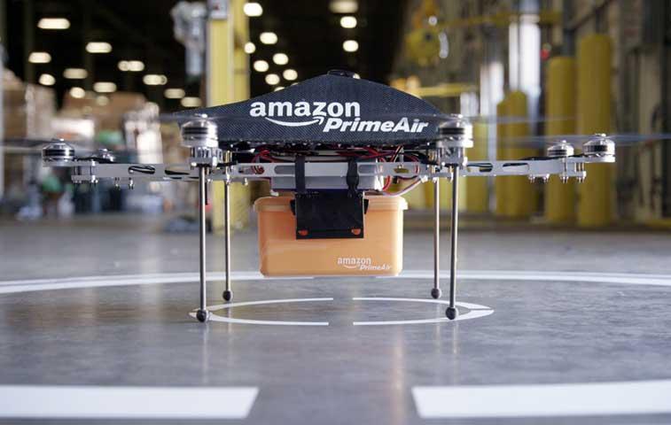 Amazon prueba con drones para entrega de paquetes