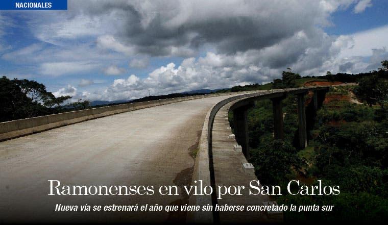 Ramonenses sin solución para vía a San Carlos
