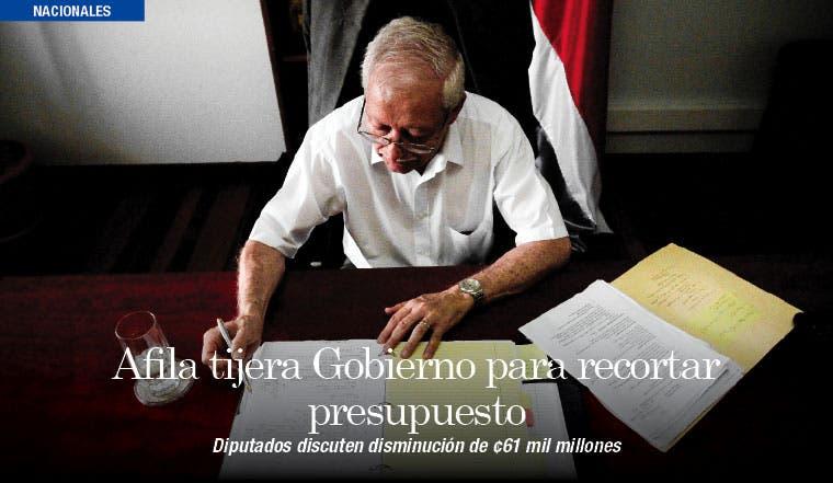 Afila tijera Gobierno para cortar ¢61 mil millones