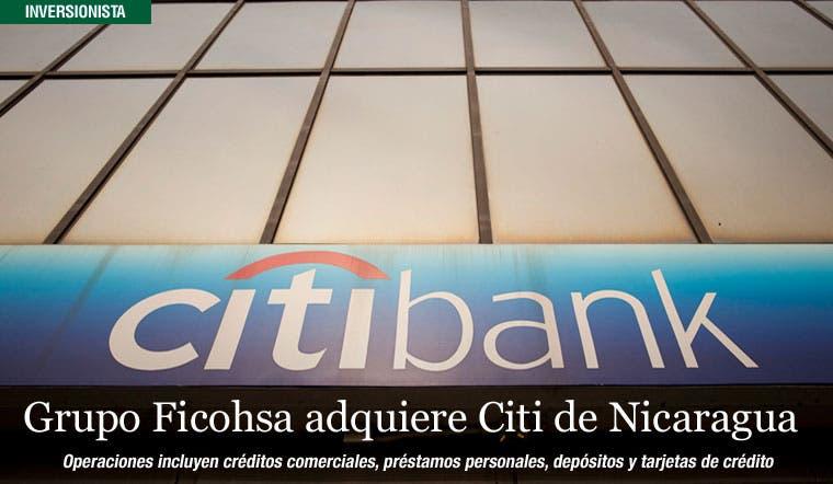 Grupo Ficohsa adquiere a Banco Citibank de Nicaragua