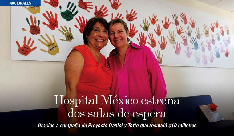 Hospital México estrena dos salas de espera