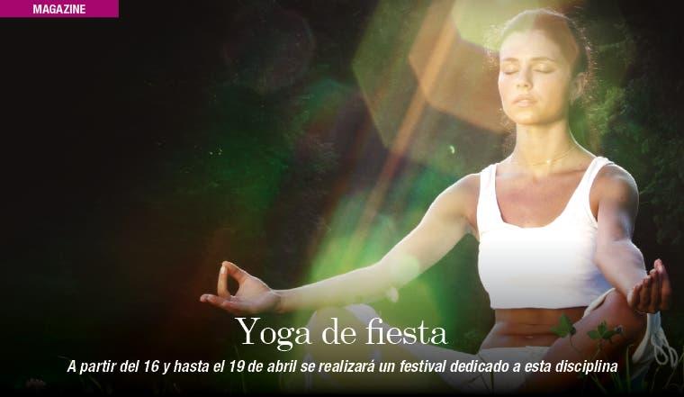 Una fiesta donde el yoga es protagonista