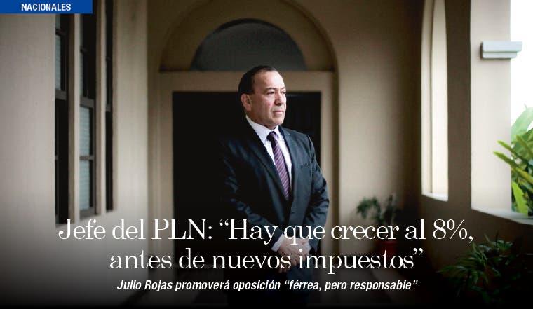 """Julio Rojas: """"Hay que crecer al 8%, antes de nuevos impuestos"""""""