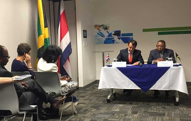 Jamaica ratifica su TLC con Costa Rica