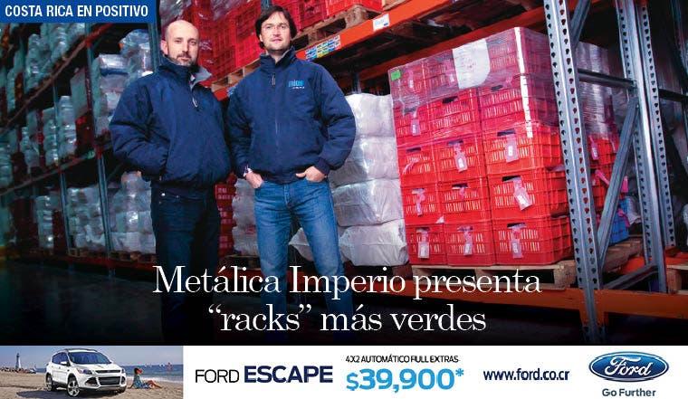 """Metálica Imperio presenta """"racks"""" más verdes"""