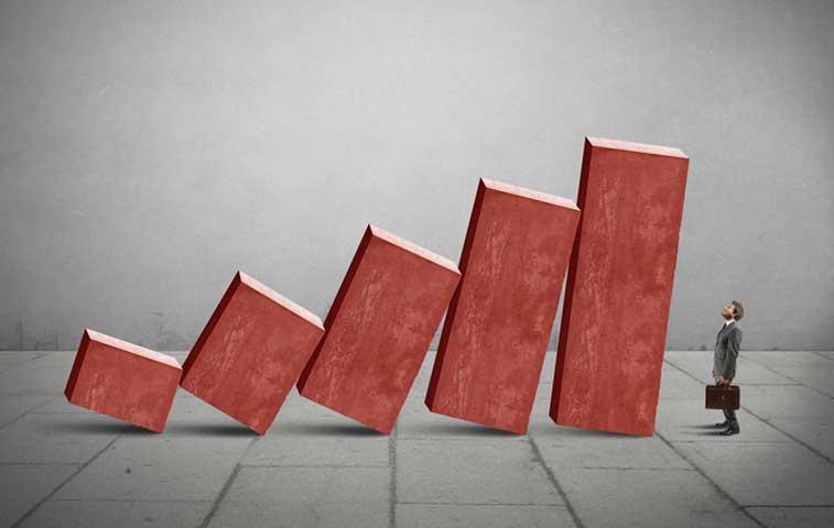 Actividad económica muy baja respecto al 2014