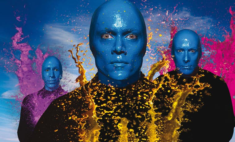 "Blue Man Group viene con show ""pura vida"""