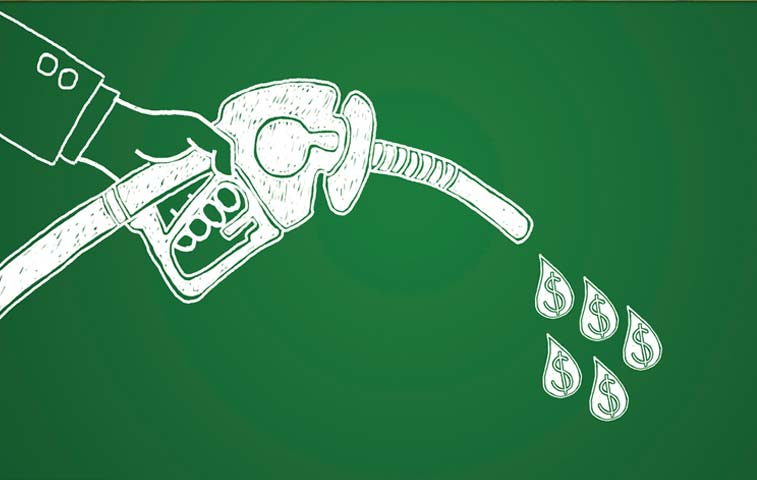 Combustible barato impulsa recaudación