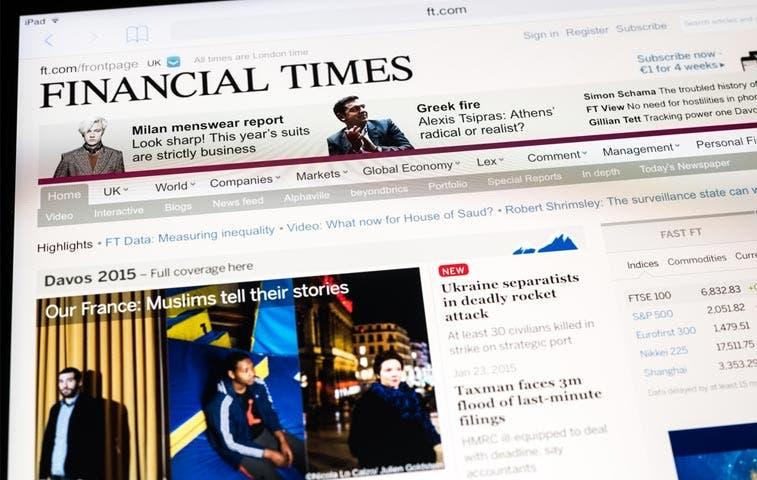 Pearson medita posible venta del diario The Financial Times