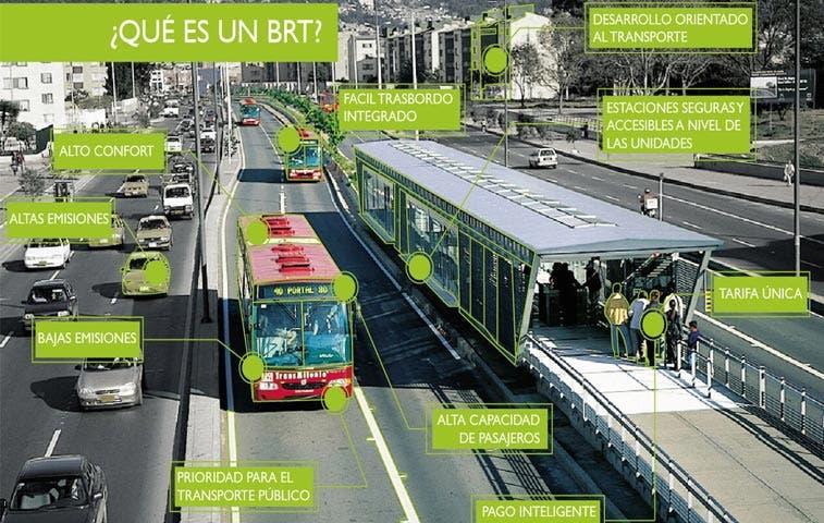 Iniciativa busca implementar sistema eléctrico de buses similar al Transmilenio de Bogotá