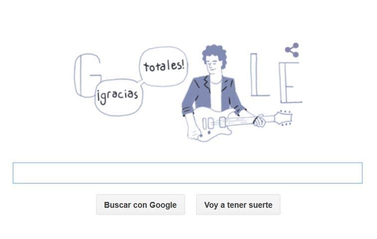 Google rinde tributo a Gustavo Cerati