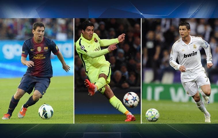 Messi, Ronaldo y Suárez, finalistas a mejor de Europa